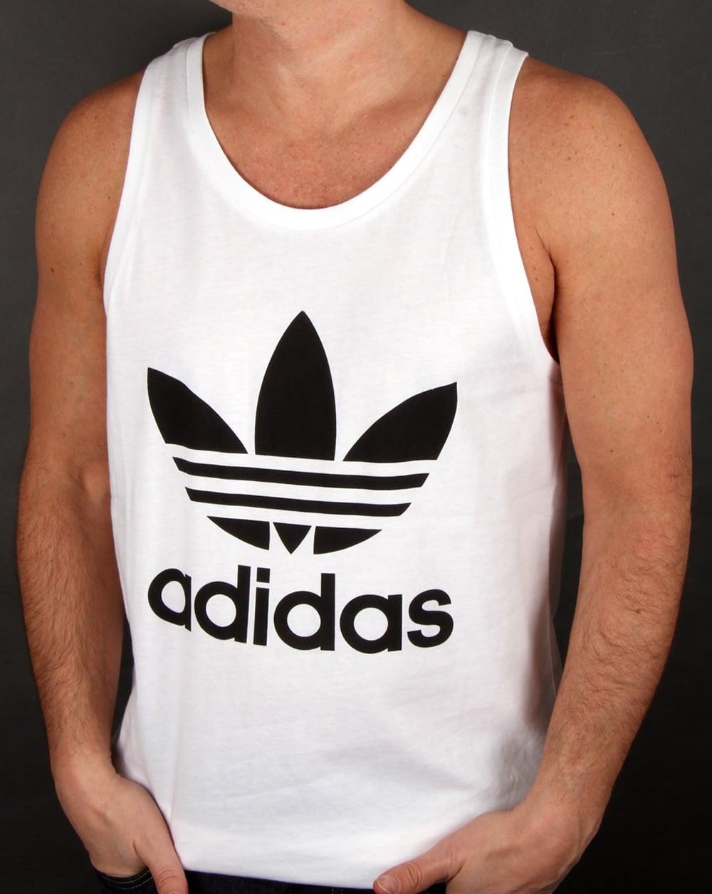 2ffe5e5b3e645 adidas Originals Adidas Originals Trefoil Vest White