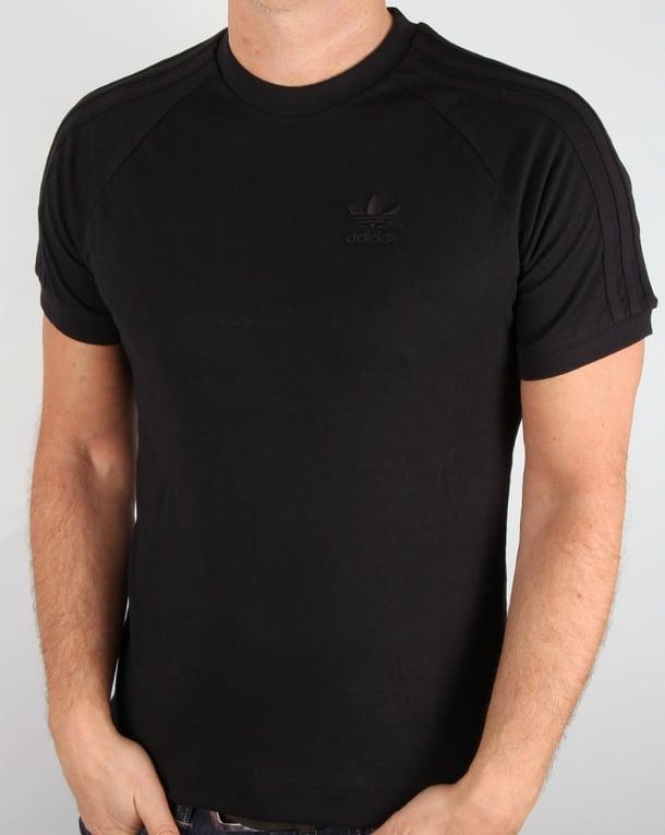 Adidas Originals Triple Stripe T Shirt Black