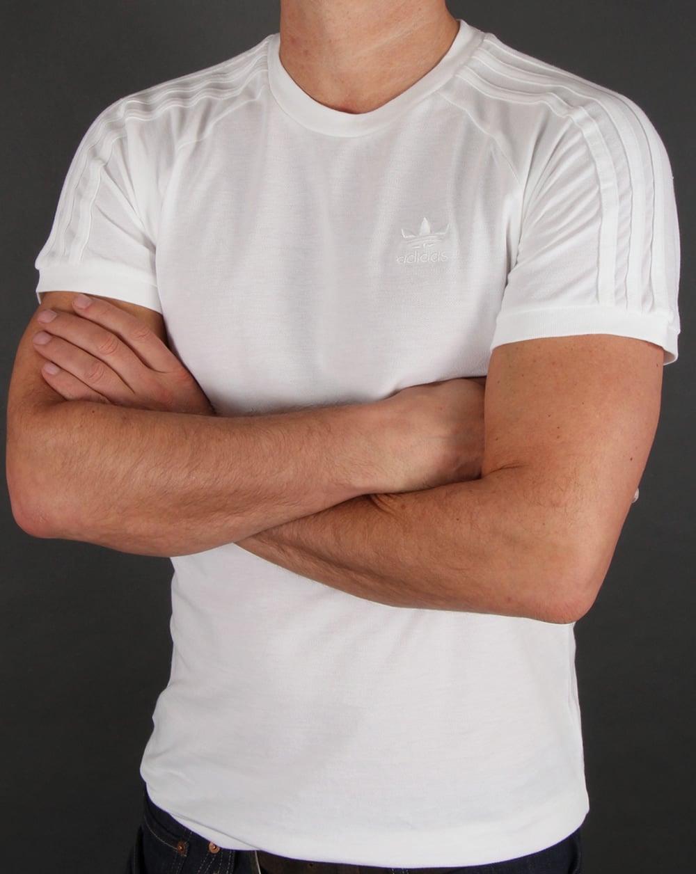 2af6b3d46cb adidas Originals Adidas Originals Triple Stripe T shirt White