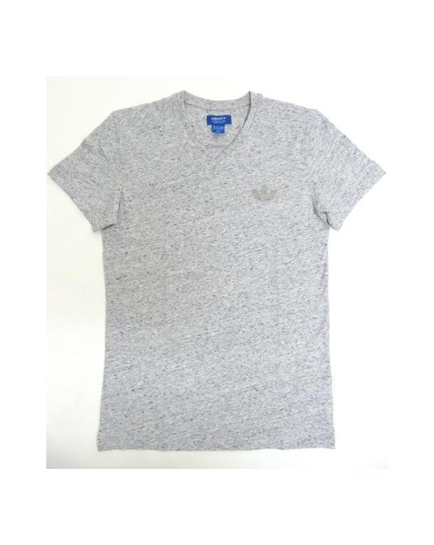 Adidas Originals V Neck T shirt Grey