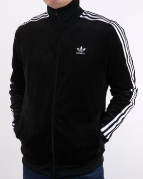 Adidas Originals Velour Track Top Black