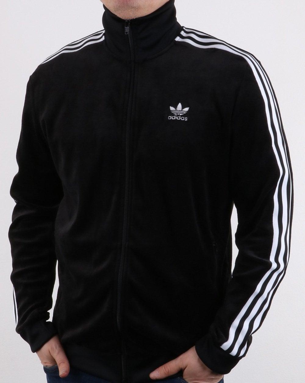 efdd012749f5 adidas Originals Adidas Originals Velour Track Top Black