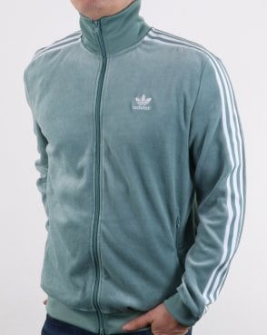 Adidas Originals Velour Track Top Vapour Steel