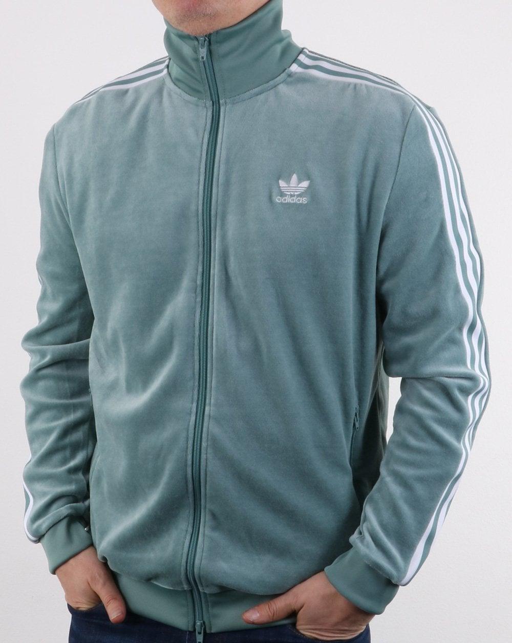 139feab1bb60 adidas Originals Adidas Originals Velour Track Top Vapour Steel