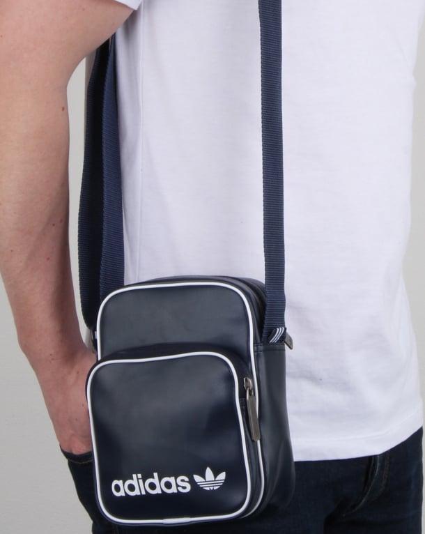 89f4f473ac9f adidas Originals Adidas Originals Vintage Mini Bag Navy
