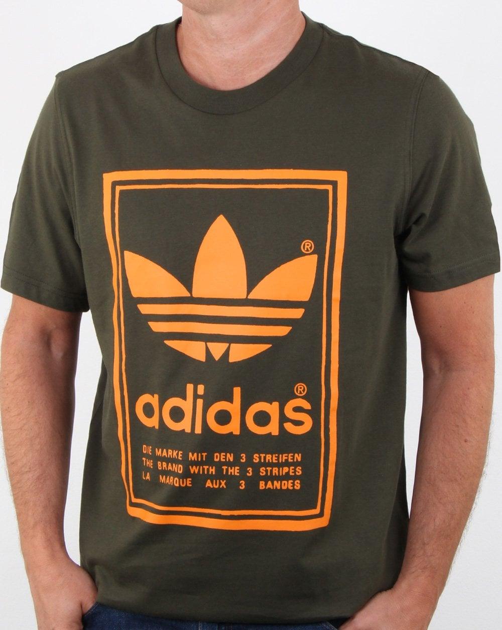 06cb54e3c03 adidas Originals Adidas Originals Vintage T Shirt Night Cargo