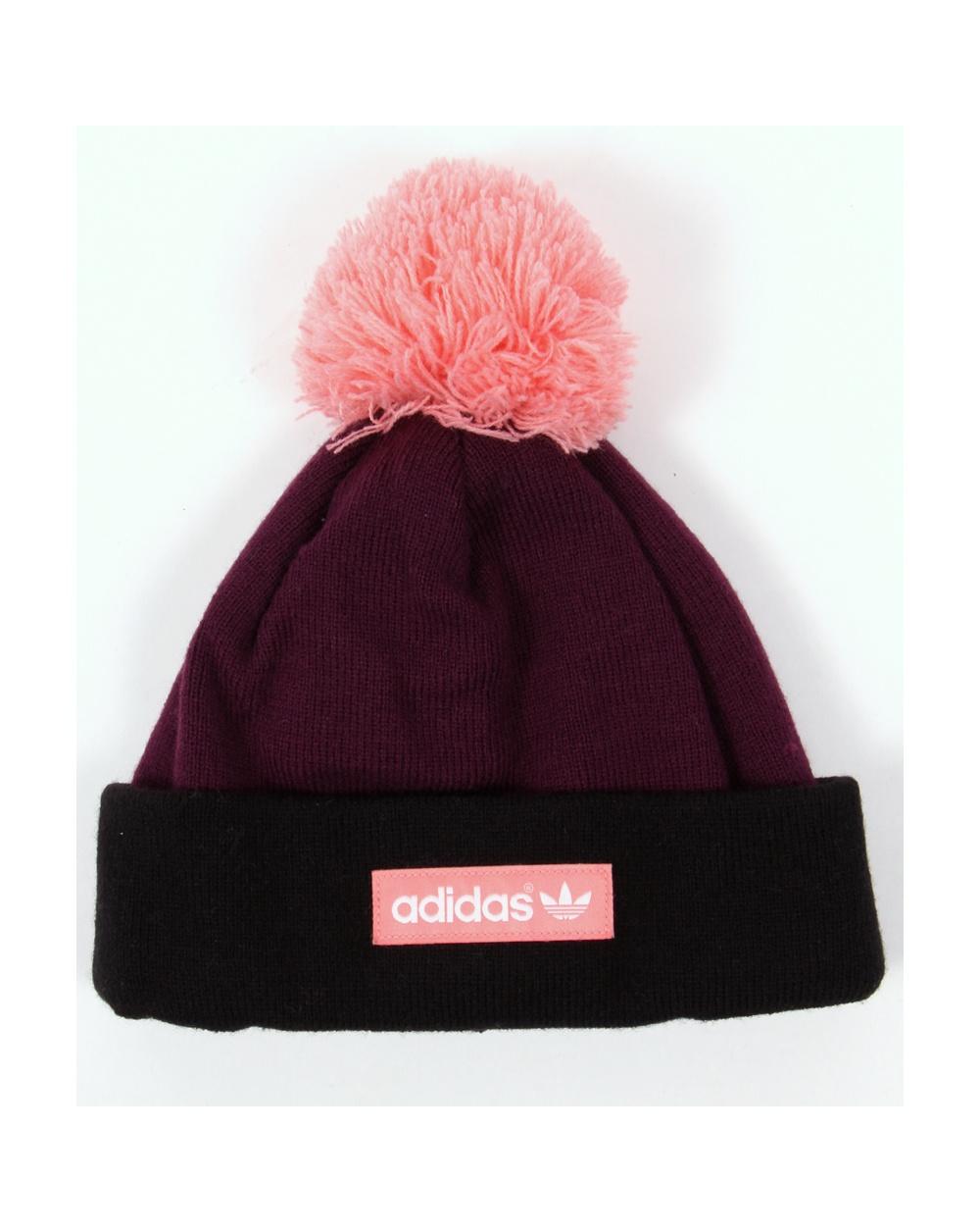 3ea37546574af ... usa adidas originals woven logo beanie purple black pink 771d4 55052