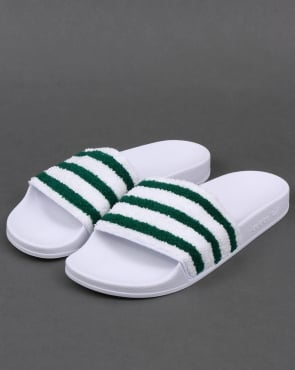 adidas Trainers Adidas Premium Towelling Slides White/Green