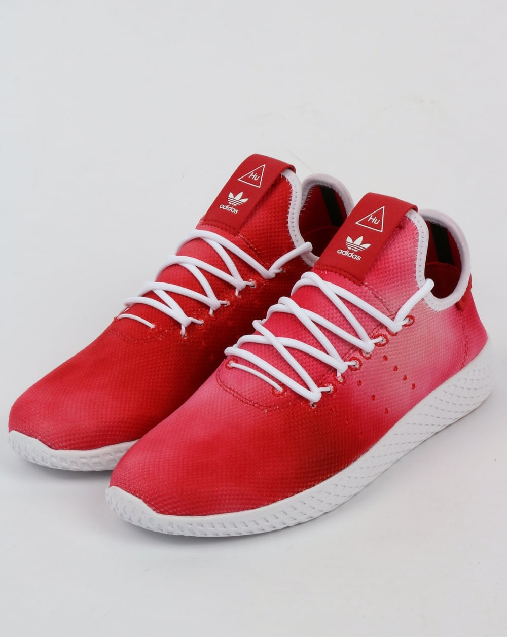 low priced 08d33 bb65f Adidas PW HU Holi Tennis Trainers Scarlet Red/White