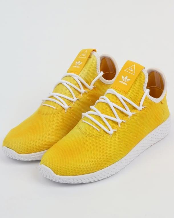 Adidas PW HU Holi Tennis Trainers Yellow/White