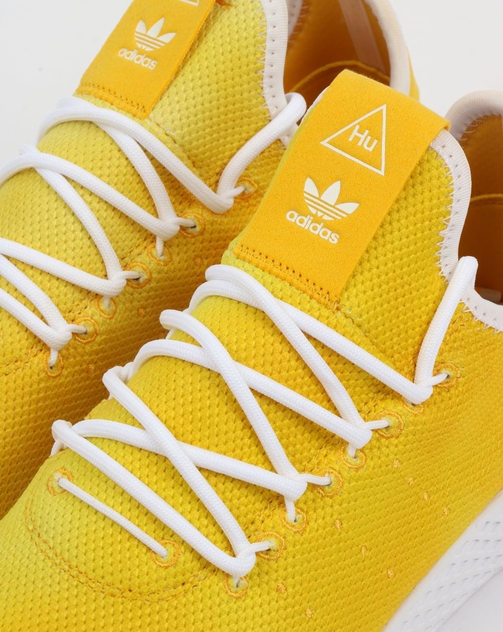 459dc02c50a34 Adidas PW HU Holi Tennis Trainers Yellow White
