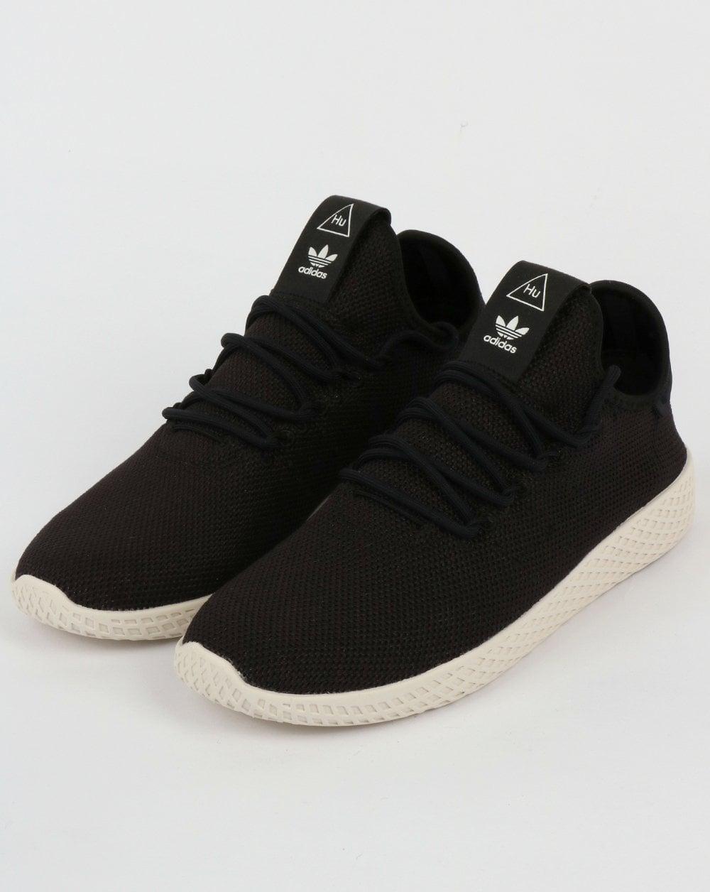 buy uk cheap sale discount Adidas PW Tennis HU Trainers Black/Black/White