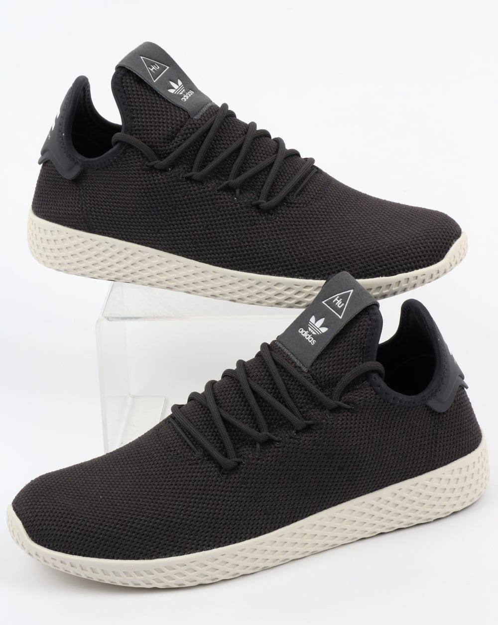 Adidas PW Tennis HU Trainers Carbon White ee0be7f16