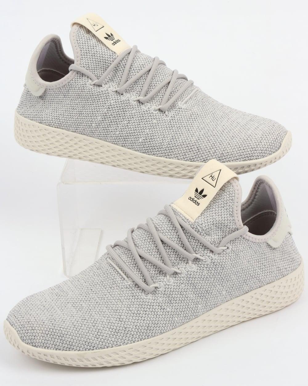 3ae7d5a6ddf9f Adidas PW Tennis HU Trainers Grey White
