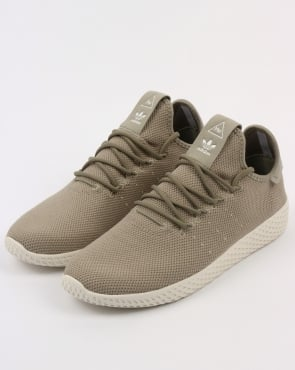 Adidas Pw Tennis Hu Trainers Tech Beige/white