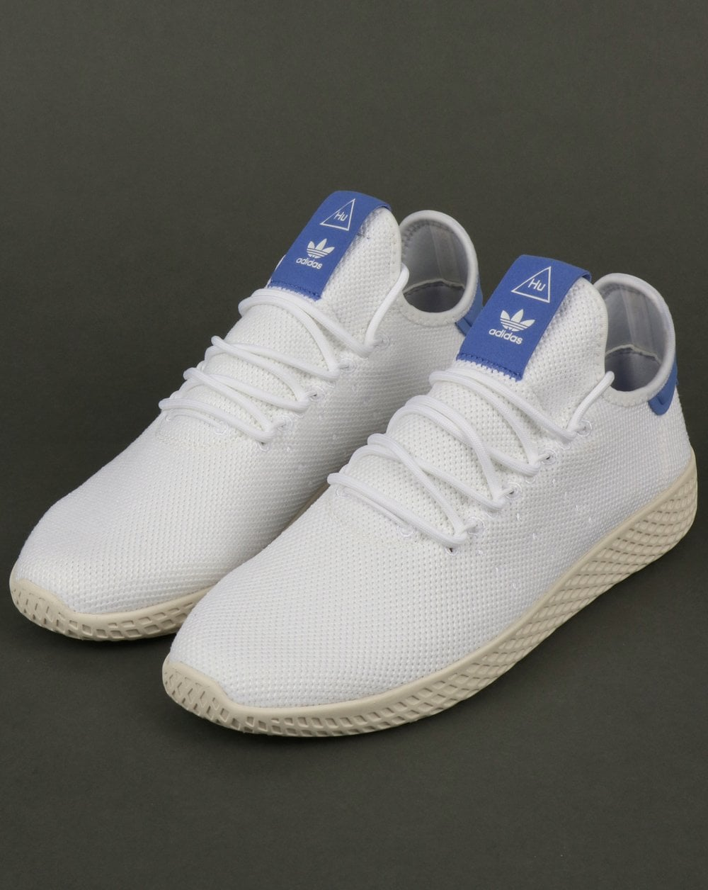 a06b27e01 adidas Trainers Adidas PW Tennis HU Trainers White Blue