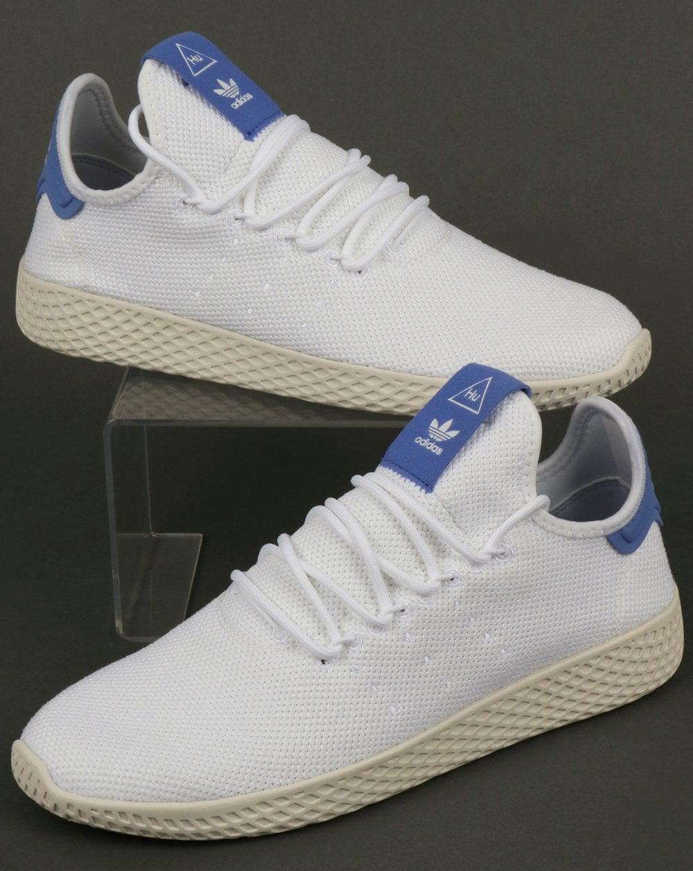 Adidas PW Tennis HU Trainers White Blue c72c2c33e4