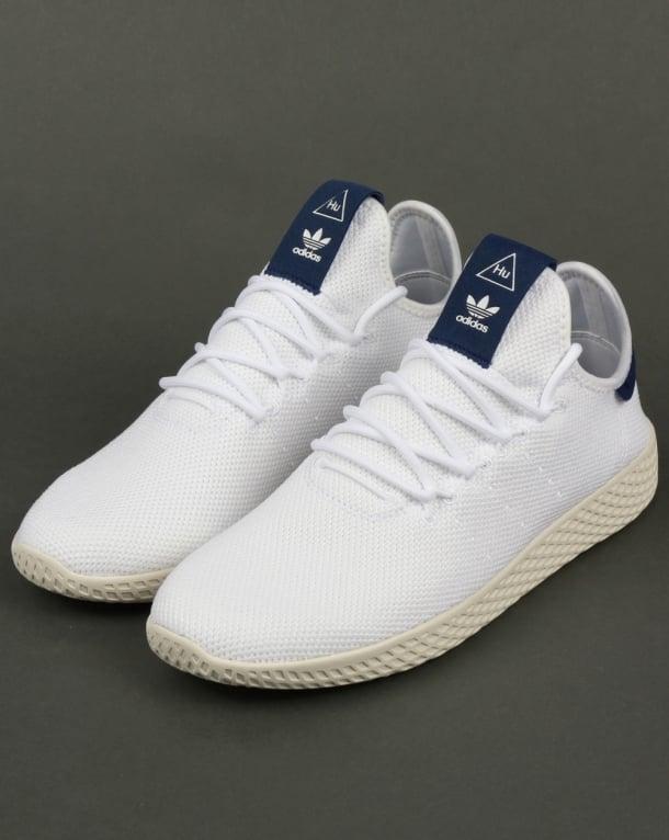 Adidas pw tennis hu formatori bianco / marina, pharrell williams, scarpe