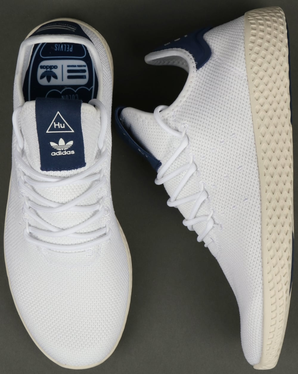 fb3f19ee8 Adidas PW Tennis HU Trainers White Navy
