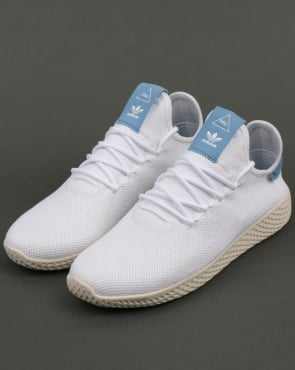 adidas Trainers Adidas PW Tennis HU Trainers White/Sky Blue
