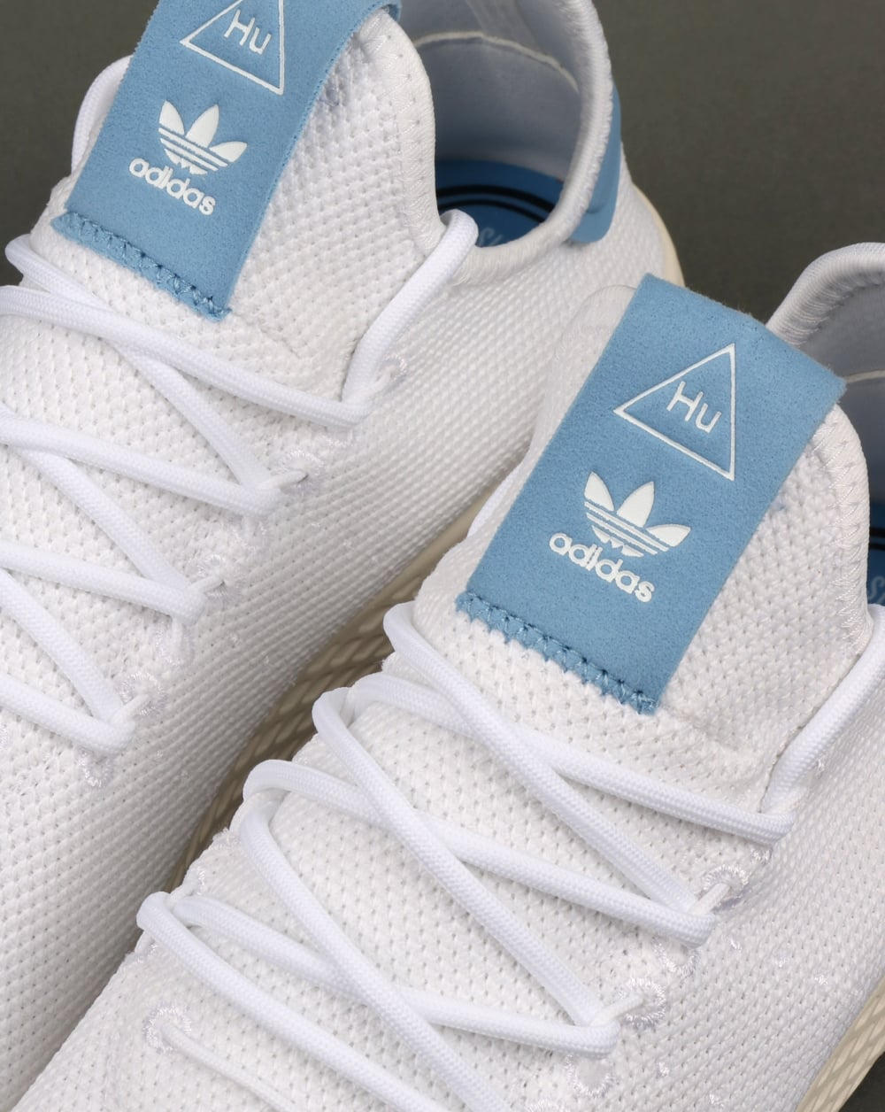 904ebaf2d Adidas PW Tennis HU Trainers White Sky Blue