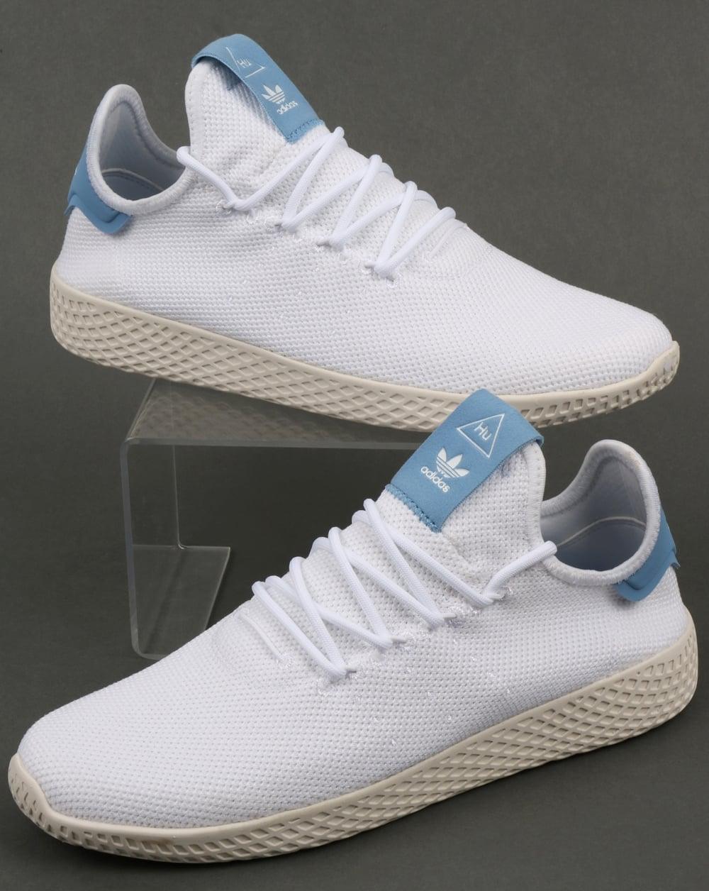 770df30792af Adidas PW Tennis HU Trainers White Sky Blue