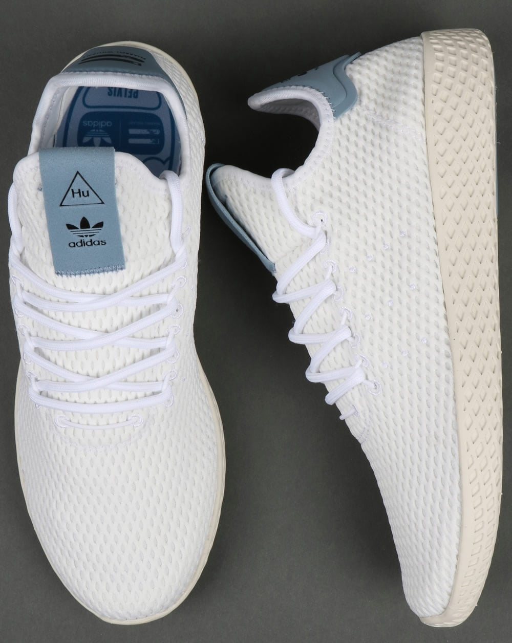 competitive price 7e1e5 82677 Adidas PW Tennis HU Trainers White Tactile Blue
