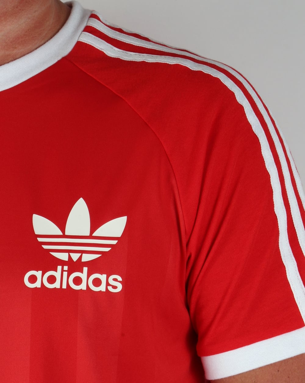 Adidas retro old skool ringer t shirt in red football for Adidas ringer t shirt