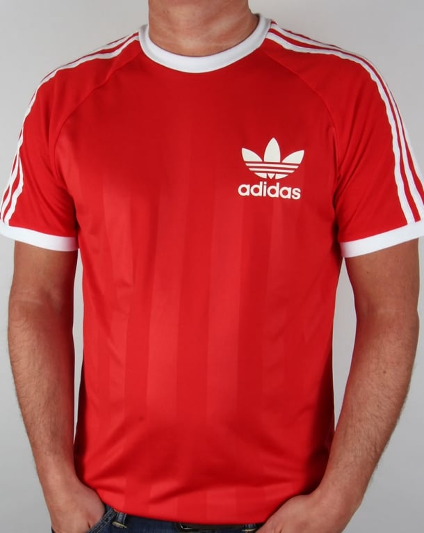 Adidas Retro Old Skool Ringer T-shirt in Red