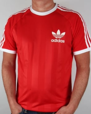 Adidas Originals Adidas Retro Old Skool Ringer T-shirt in Red
