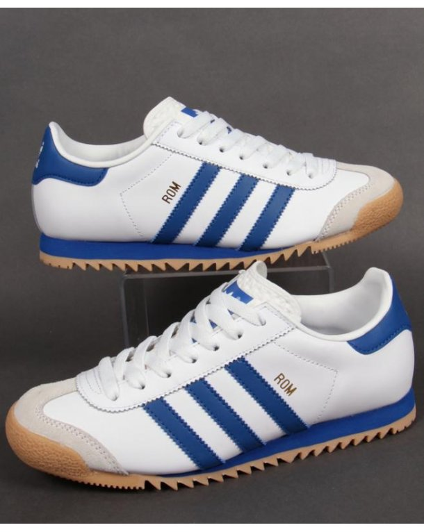 Adidas Originals Rom Trainers - White/Blue