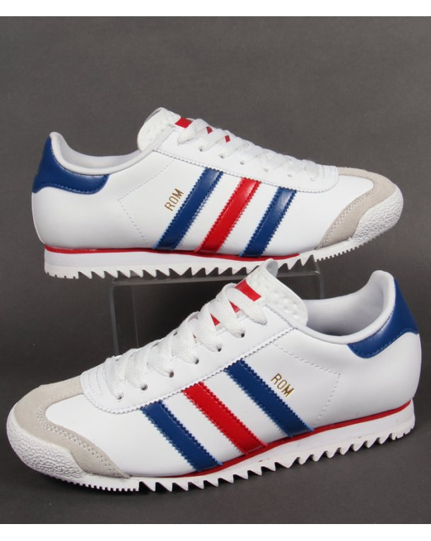 b4061e768899c5 Adidas Rom Trainers White red blue - Adidas ROM Trainers