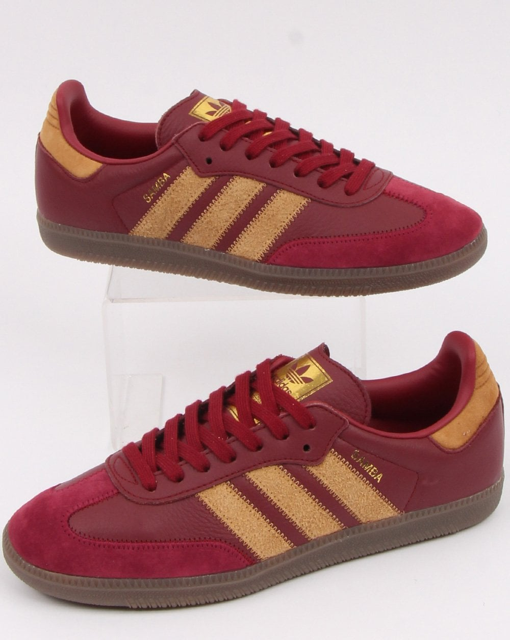 new high quality hot products detailing Adidas Samba Og Ft Trainers Burgundy/Gold