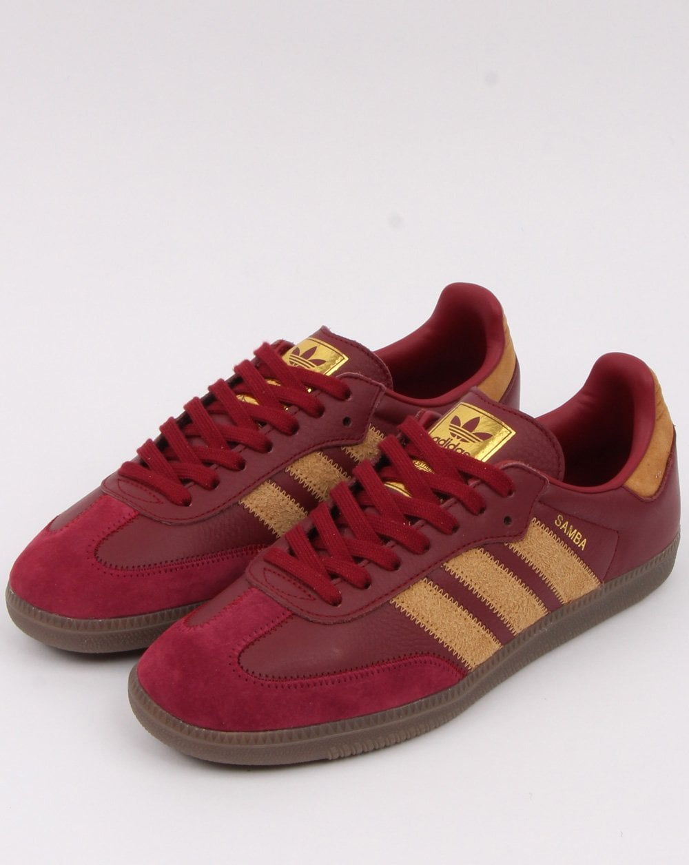 Adidas Samba Og Ft Trainers Burgundy/Gold