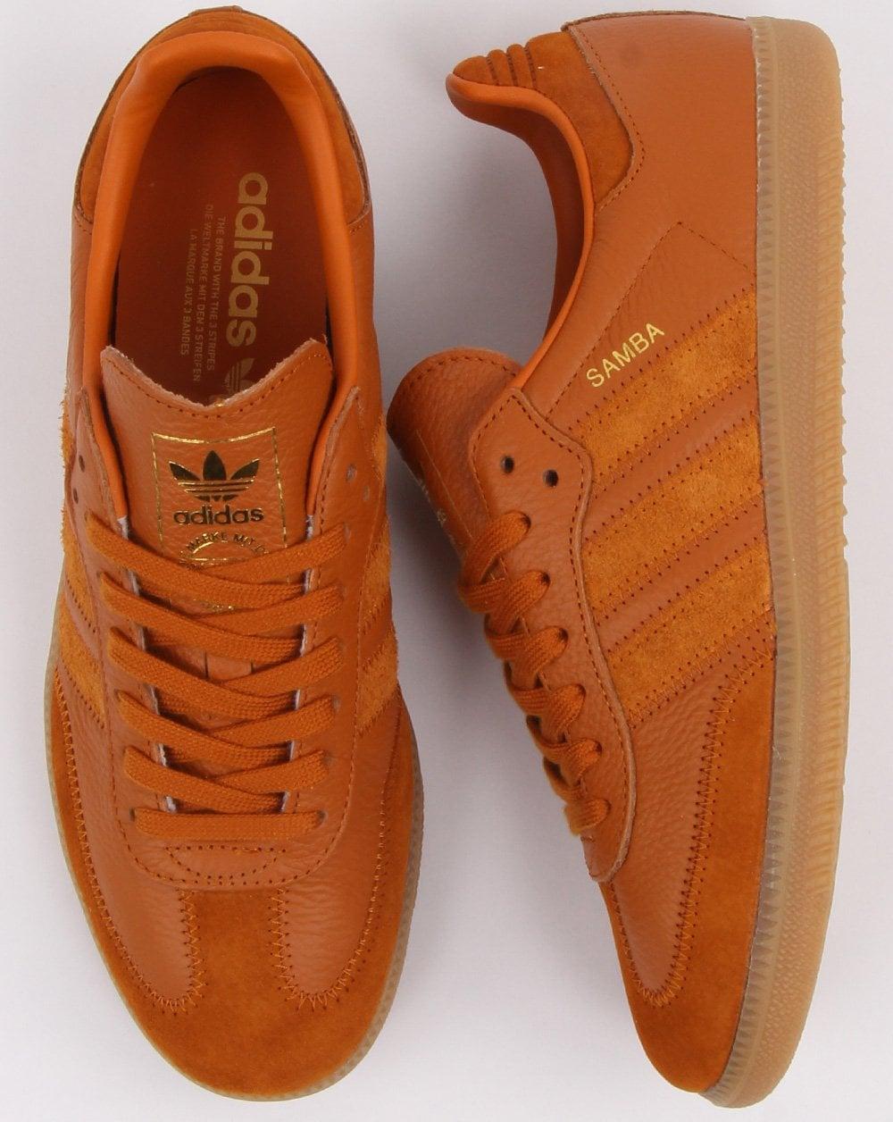 Adidas Samba Og Ft Trainers Burnt Orange