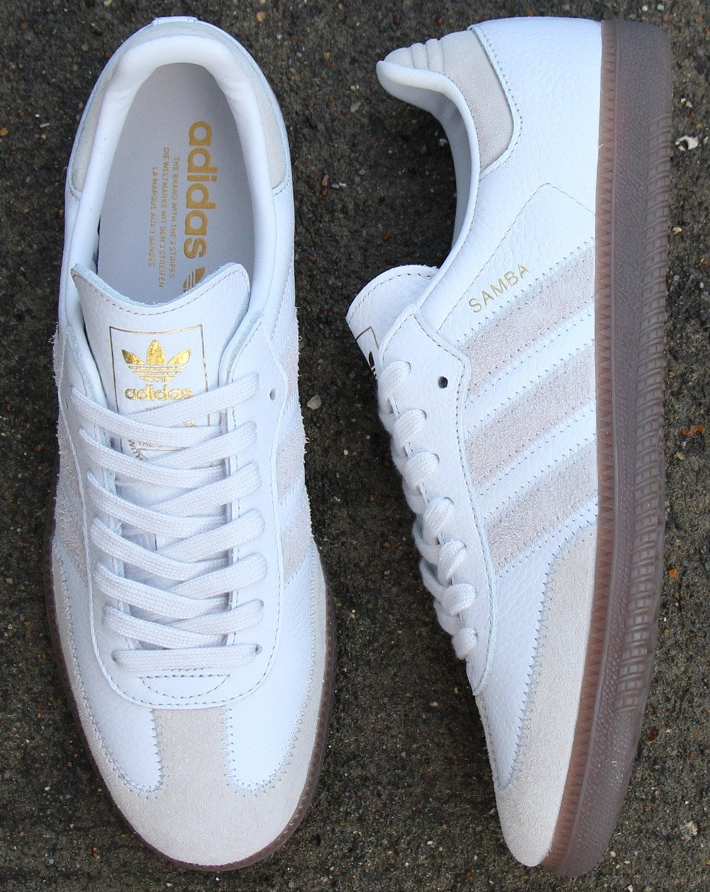 adidas Trainers Adidas Samba Og Ft Trainers Crystal White 65d57b196