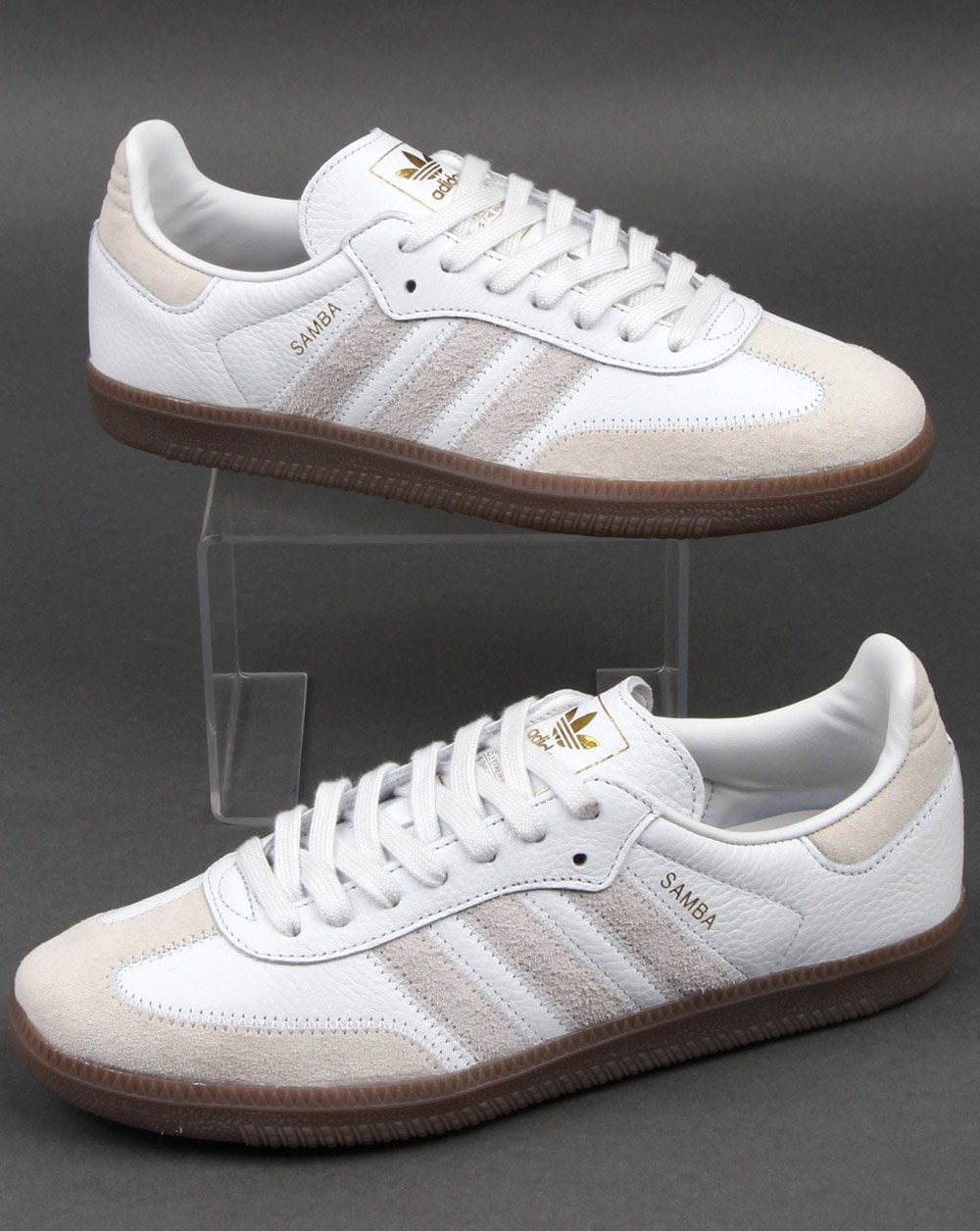 72c224f40bb9 Adidas Samba Og Ft Trainers Crystal White