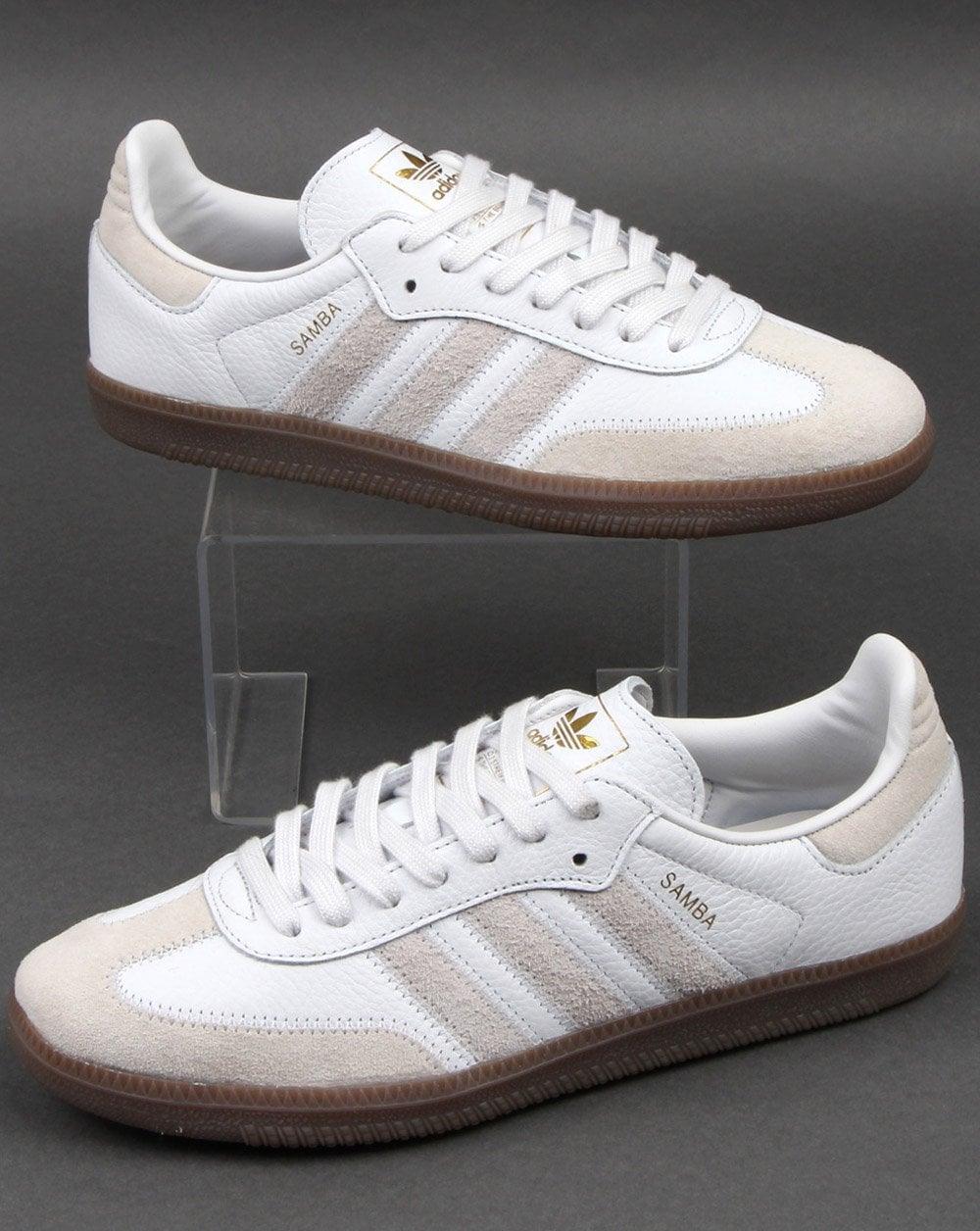 Repeler emoción conservador  Adidas, Samba, Og, Leather, Trainers, Crystal White | 80s casuals