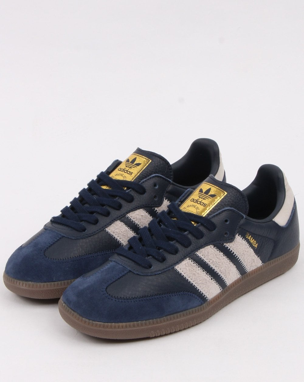 Adidas Samba Og Ft Trainers Navy Grey Adidas At 80s Casual Classics