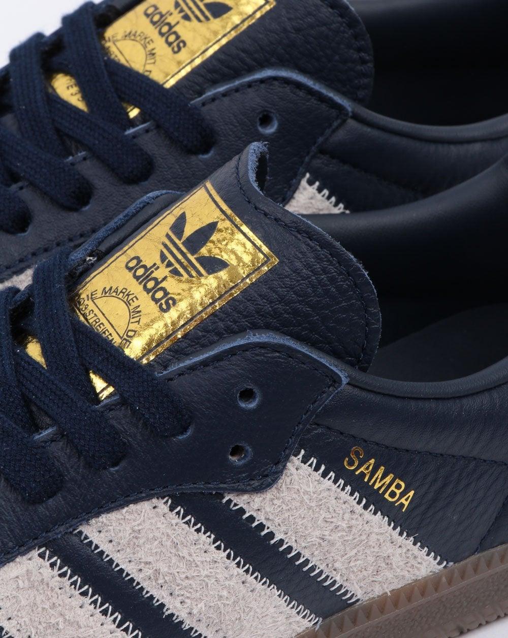 Adidas Samba Og Ft Trainers NavyGrey Adidas At 80s Casual