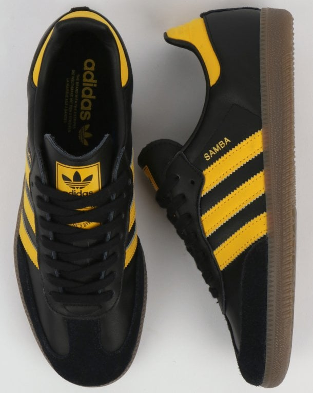 sports shoes 5bfad a528e ... real adidas samba og trainers black bold gold 0de7f 97179