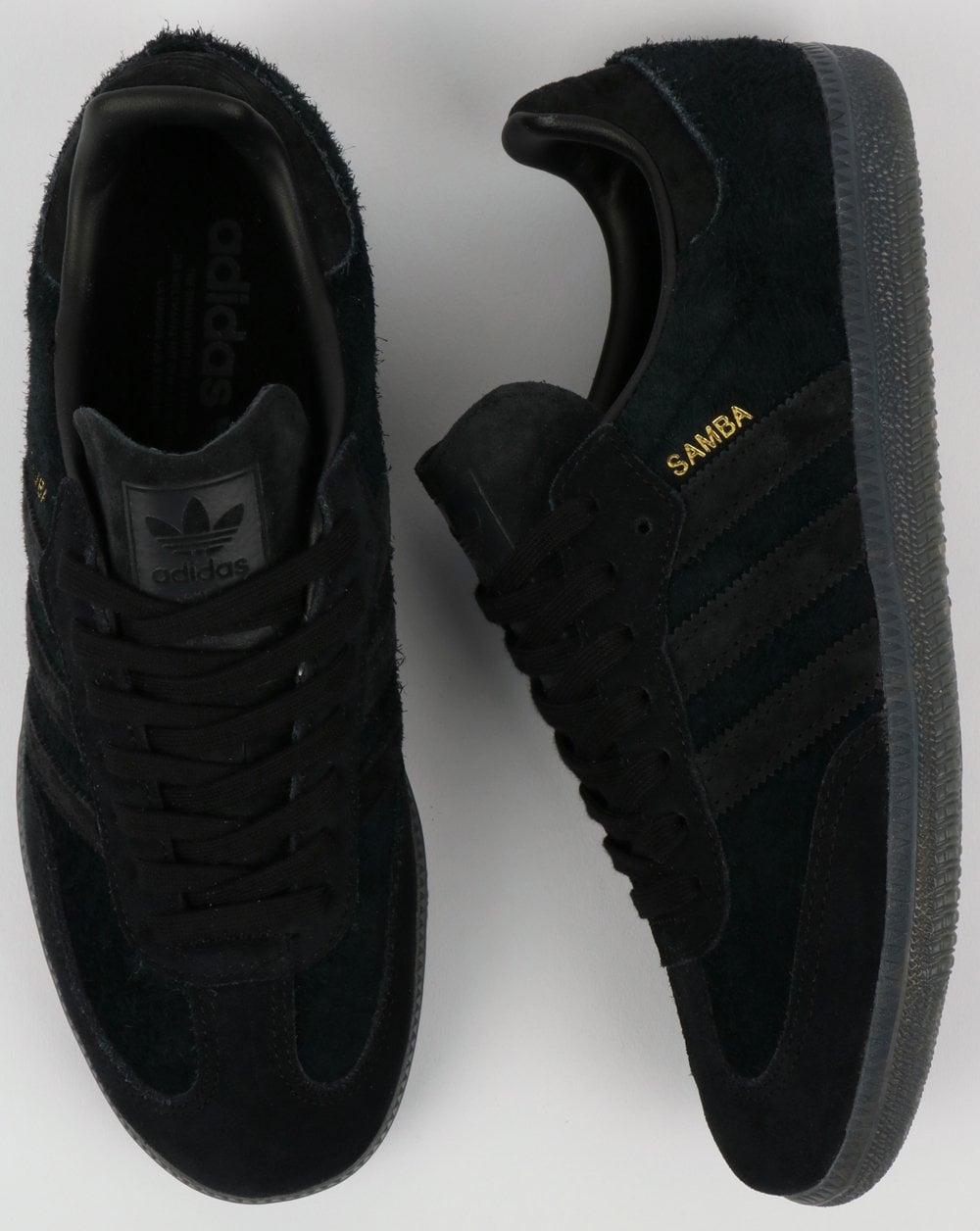 Adidas Samba Trainers Black,suede,OG