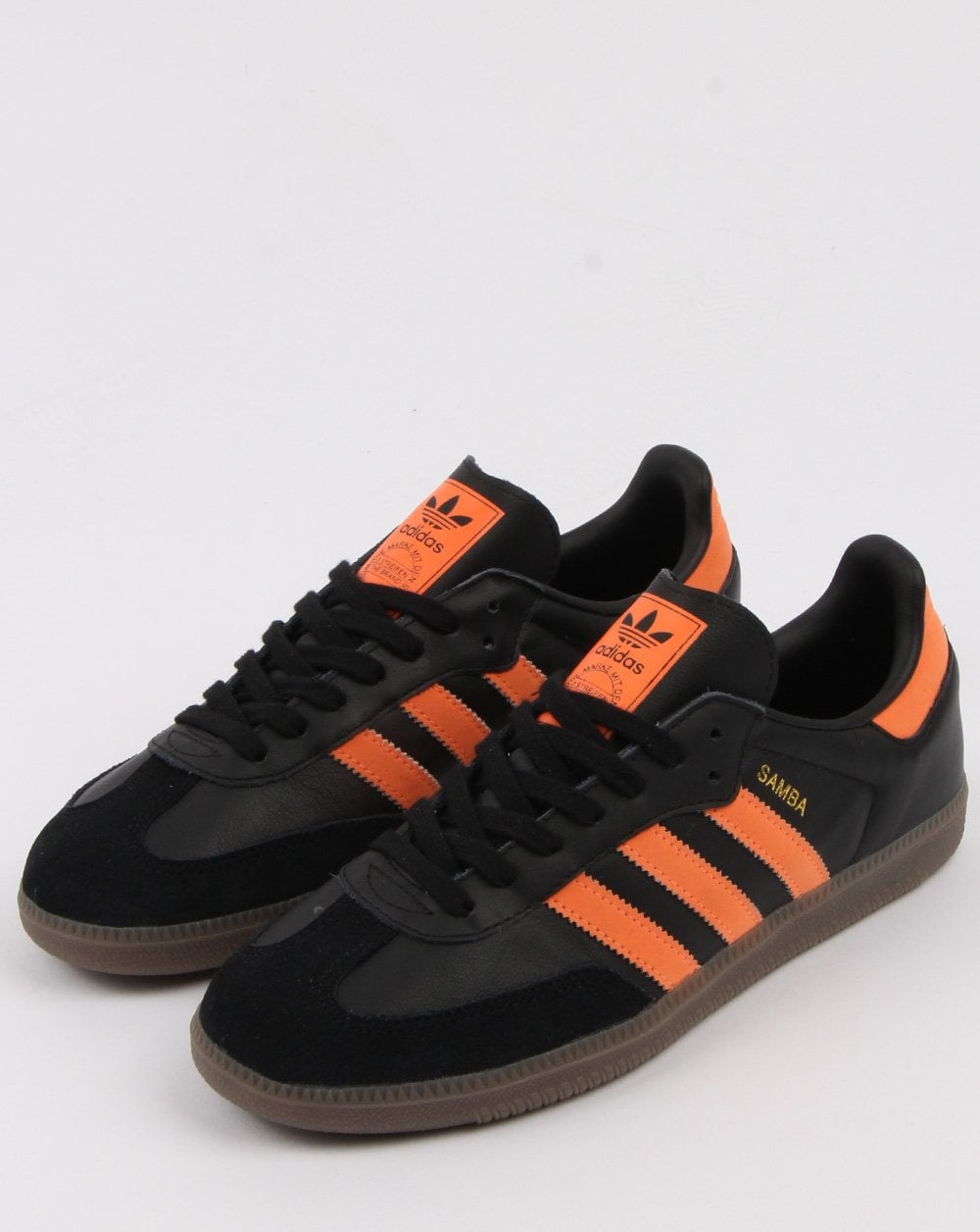Adidas Samba Og Trainers Black Orange