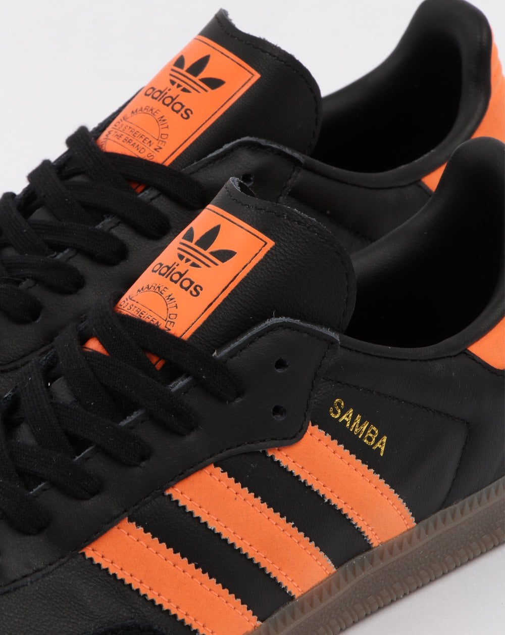 Adidas Samba Og Trainers Black  Orange 8cb59f386