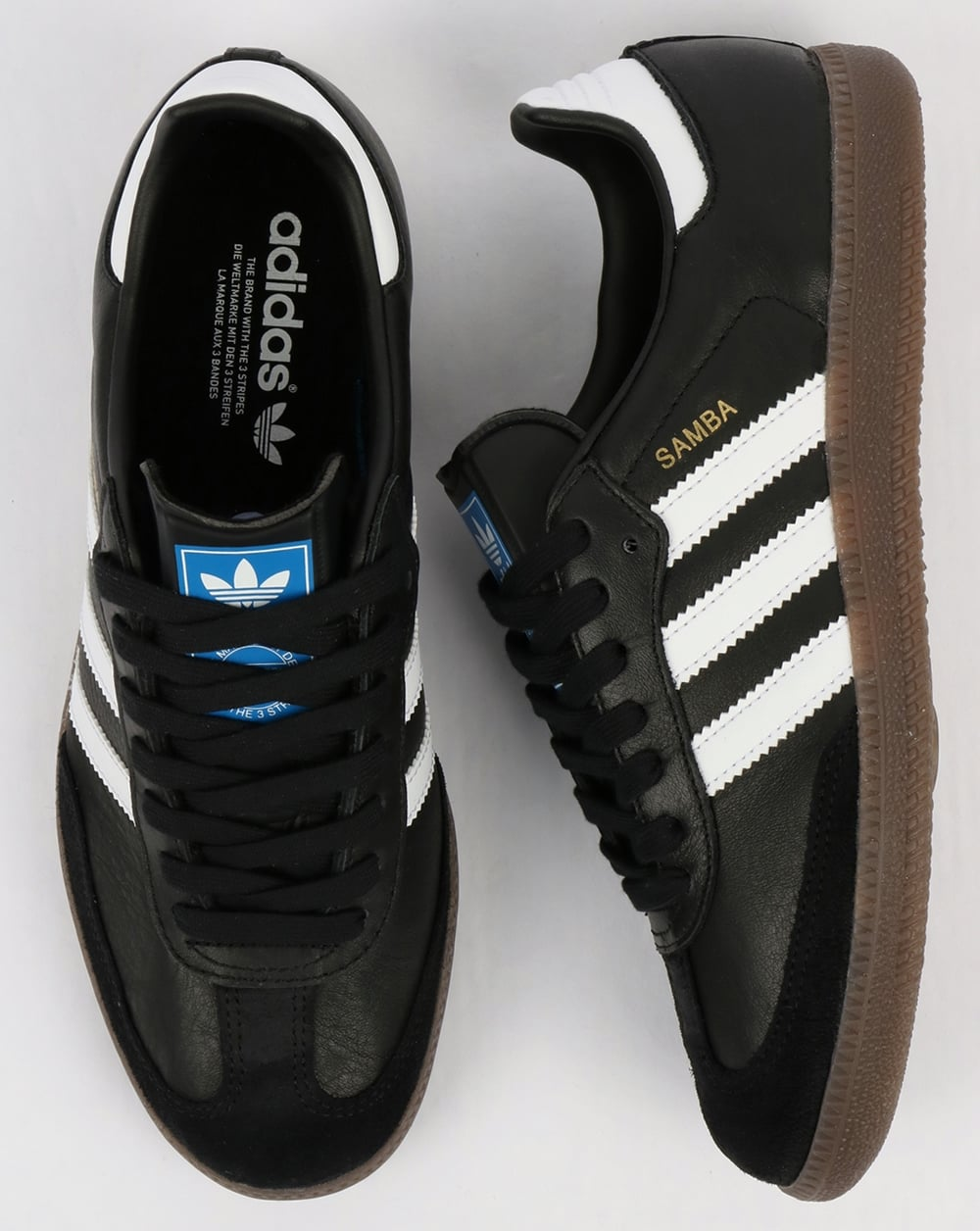 adidas originals white and black samba og trainers