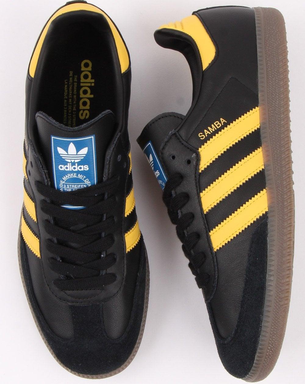 Adidas Samba Og Trainers Black/Yellow