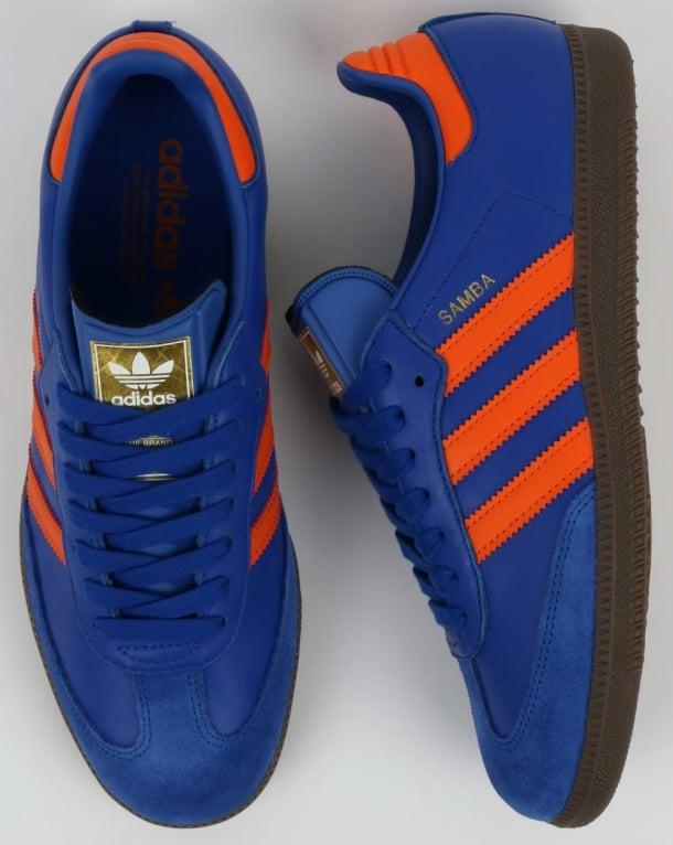 Adidas Samba OG Trainers Dublin Blue/Orange