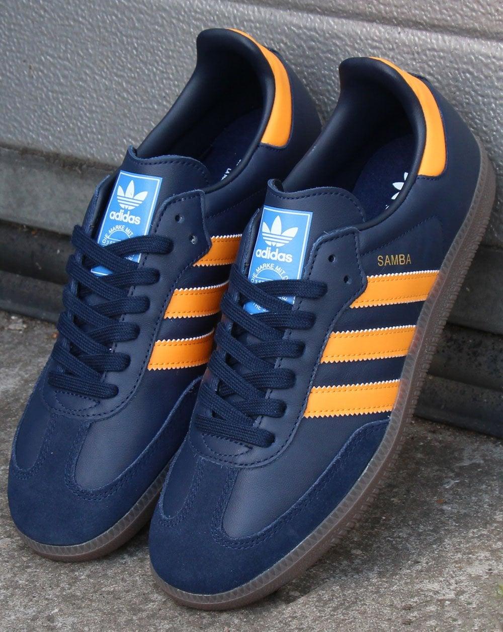 half off quality design exquisite design Adidas Samba Og Trainers Navy/Orange