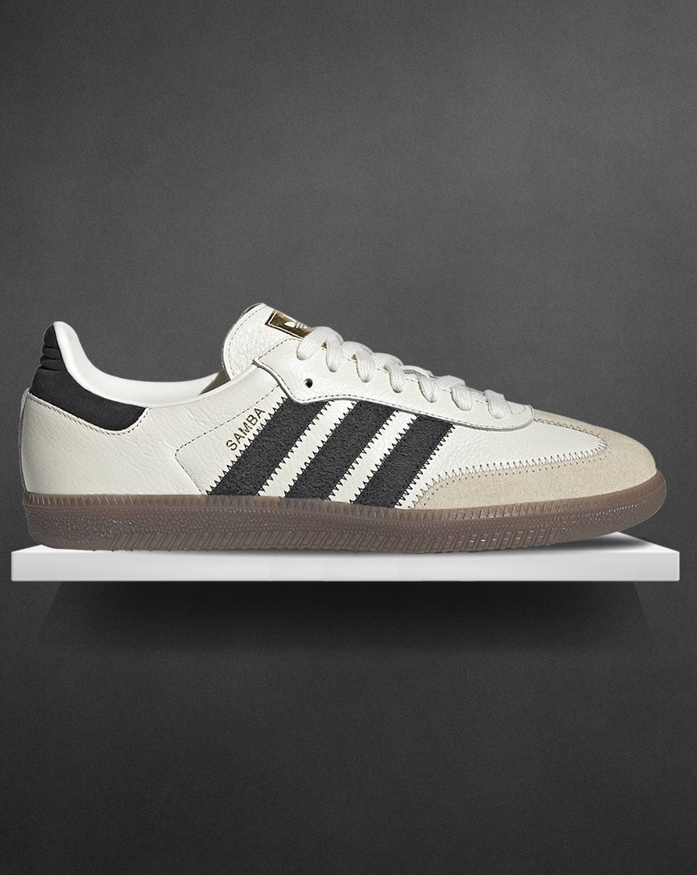 47dc18b0416 Adidas Samba Og Trainers Off White/Carbon - Adidas At 80s Casual ...