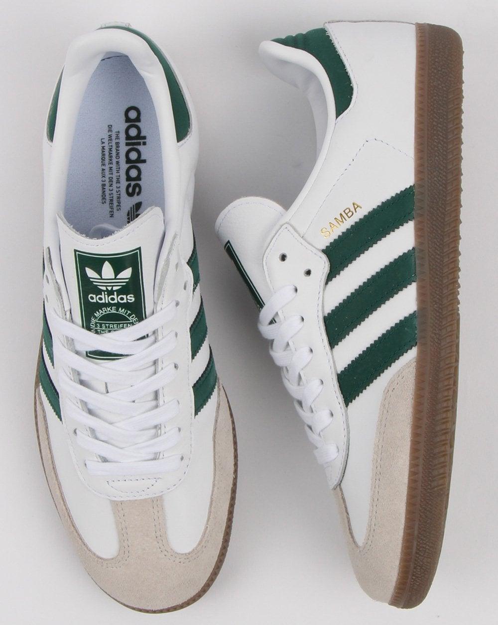 Adidas Samba Og Trainers Whitecollegiate Green